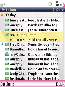 Nokia Mail Inbox